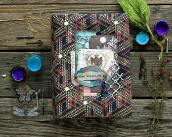 Time Travelers mini album, scrapbooking mixed media book