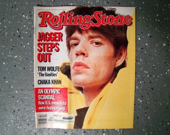 Mick Jagger - Rolling Stone Magazine Issue# 441 - 1985