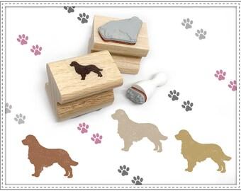Rubber stamp set DOG & TRACKS