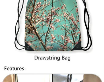 Blossoms Gym Bag, Spring Photo Tote Bag, Spring Blooms Laundry Bag, Shopping Bag, Floral Shoulder Bag, Flower Blooms Book Tote, Gym Bag