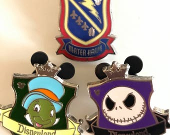Disney Pin, Jack Skellington Pin, Disney Matter Hawk Pin, Jimmy Cricket Pin, Disneyland Pin