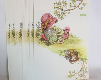 Sweet Girl Tea Party Vintage Stationary