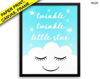 Twinkle Twinkle Little Star Wall Art Framed Twinkle Twinkle Little Star Canvas Print Twinkle Twinkle Little Star Framed Wall Art Decor
