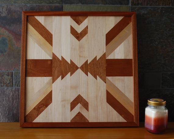 Native american geometric design wood wall art navajo tribal