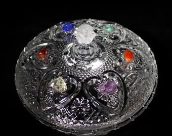 Offering Bowl Altar Ritual Incense Chakra Reiki Crystal Gemstone Pagan Wicca