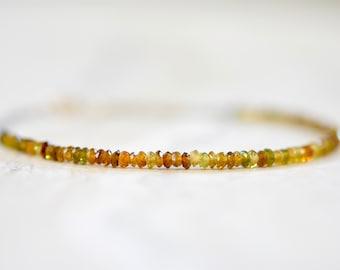 petro tourmaline bracelet. thin petro tourmaline gemstone bracelet. tourmaline jewelry. tiny petro tourmaline gemstones