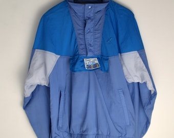 Windbreaker vintage Sport Men M Women L XL 90s windbreaker Anorak Vintage Bomber jacket Colorful Windbreaker Vintage jacket men 90s jacket
