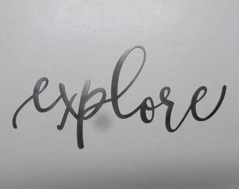 Explore - Metal Sign  E9