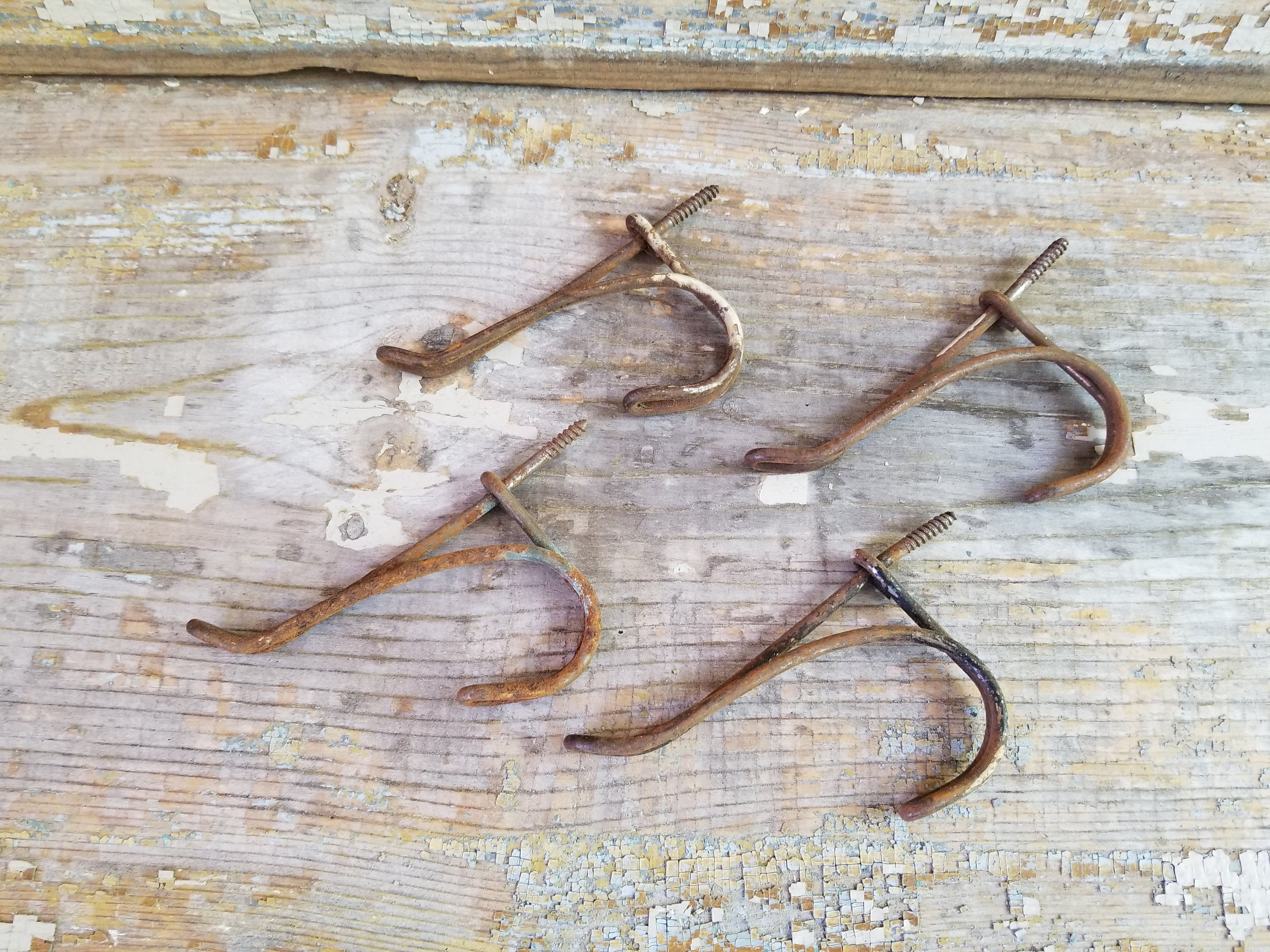 4 Vintage Wire Double Coat Hooks ~ Architectural Salvage ...