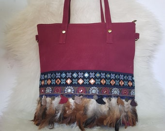 Bordeaux ethnic Bag