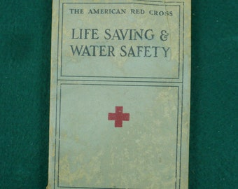 1937 American Red Cross Life Saving & Water Safety Book