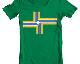Portland T-shirt - Portland Oregon City Flag - Portland T-shirt