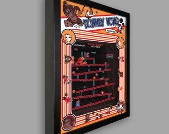 Donkey Kong Shadowbox Art