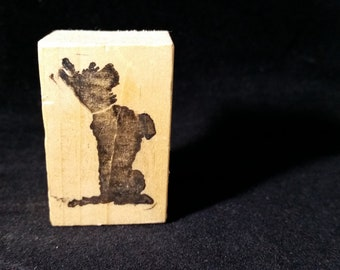 Scottie Dog Used Rubber stamp View all Photos