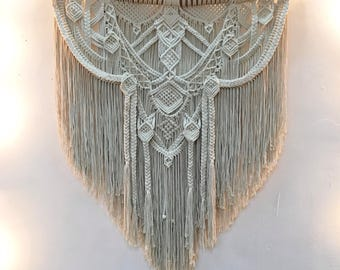 FIDELA. Macrame wall hanging, tapestry
