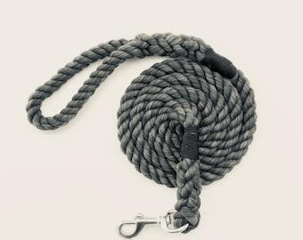 Ultra Plush Cotton Rope Leash 8 ft - Garnet