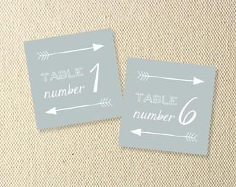 Printable Wedding Arrow Table Number