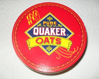 TIN 17 - Vintage 80s Quaker Oats Cookie Tin, 1983 Limited Edition