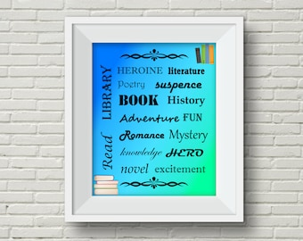 School Library Decoration,Back to School Decoration,Library Poster,Reading Poster,Book Poster,Library Printable,Library Decoration,