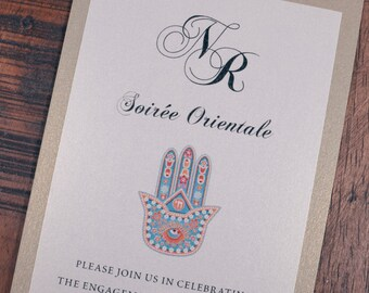 Henna Invitation, Henna Invitations, Moroccan Invitation, Moroccan Invitations, Moroccan Engagement Invitation, Henna Engagement Invites