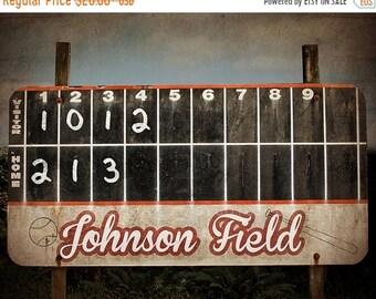 FLASH SALE til MIDNIGHT Vintage Baseball Scoreboard Photo Print ,Decorating Ideas, Wall Decor, Wall Art,  Kids Room, Nursery Ideas, Gift Ide