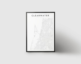 Clearwater Map Print