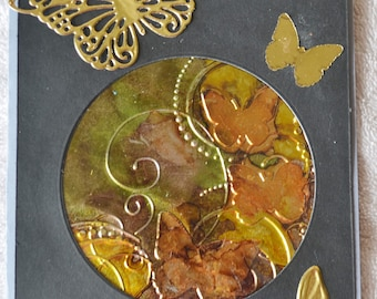 Golden Butterfly, Greeting Card