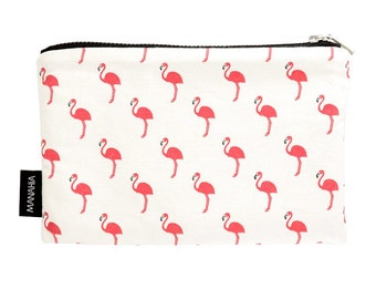 Pocket Live or life with passion. Small cotton, girl gift, gift woman clutch makeup bag, toiletry bag