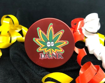 Dank Weed Leaf 40mm Alloy Herb Grinder