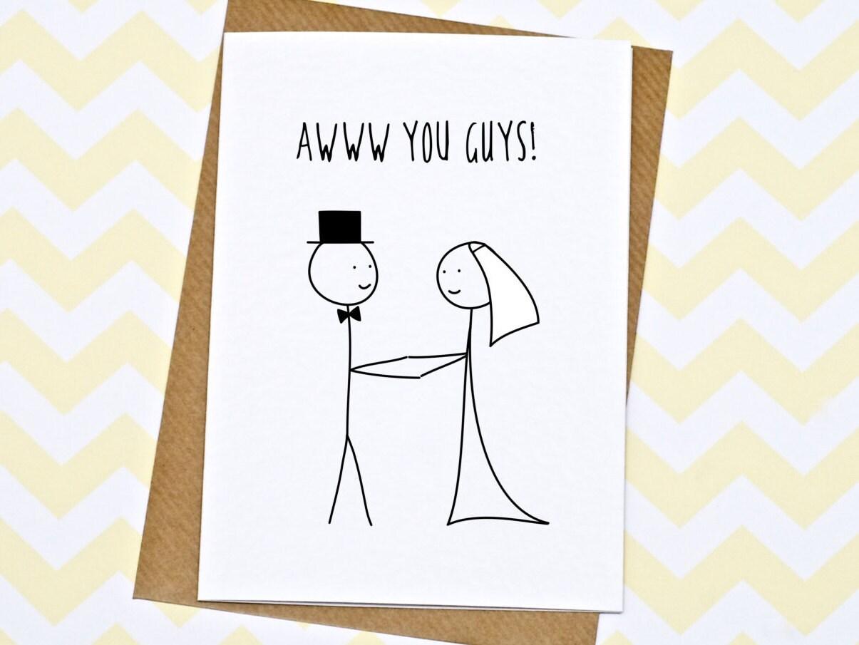 Wedding Card Funny Wedding Card Engagement Card Awww You