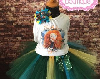 Brave, Merida birthday girl tutu outfit. Brave tutu. Brave birthday. Princess party.