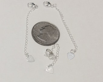6 - Silver Plated Necklace extenders, 3 inch extenders, chain extenders -FAST SHIPPING