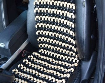 PAIR Beaded Car Seat Cover with headrest Massager Seat Cover
