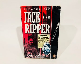 Vintage Non-Fiction Book The Complete Jack the Ripper by Donald Rumbelow 1988 UK Edition Softcover SIGNED