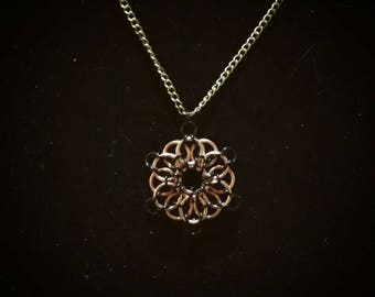 Copper Chainmail Flower