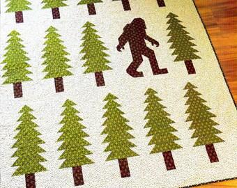 SALE!  SALE!   LEGENDARY     Quilt Pattern    NorthWest Sasquash/Big Foot Quilt - By Elizabeth Hartman