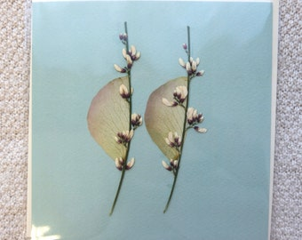 3D Floral Botanical Greetings Card in Sage Green