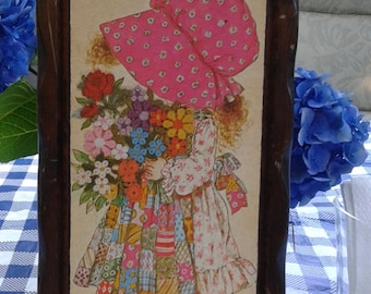 Vintage Holly Hobbie Wooden Art, Wall Decor, Wall Plaque by American Greetings