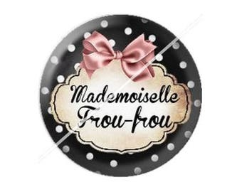 resin cabochon is 25 mm mademoiselle frou-frou 1 stick