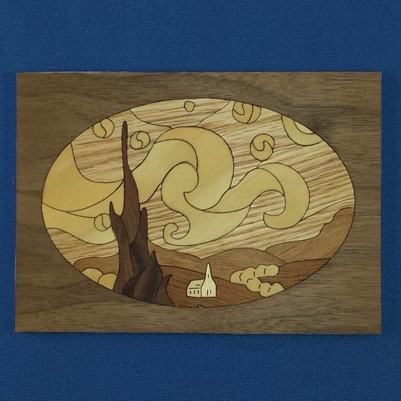 """5""""x 7"""" Marquetry Project Kit - Starry Night"""