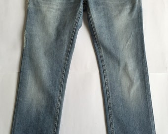 D & G Jeans Dolce and Gabbana 46 W32 Yanks Blue Man straight leg pants used