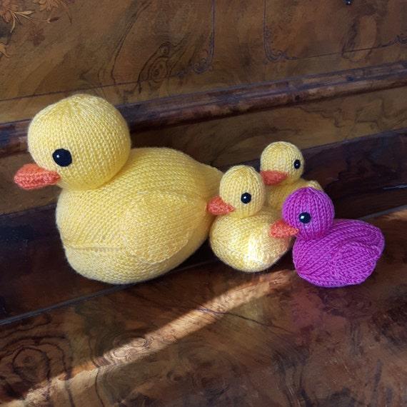 Rubber Ducks knitting pattern PDF cute rubber duckies