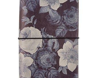 Carpe Diem - Black Vintage Floral Traveler's Notebook