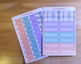 Stickers for Planner - checked pattern, Planner stickers