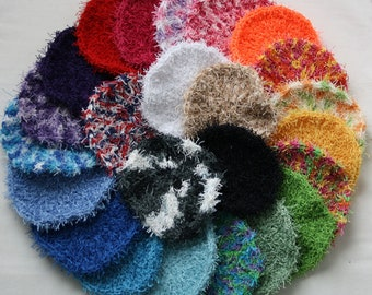 Hand Crocheted Dish Scrubby, vegetable scrubby, cleaning scrubby, scrubbies, dishcloth,
