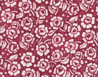 In The Beginning Fabrics Mooshka Roses in Red - Half Yard