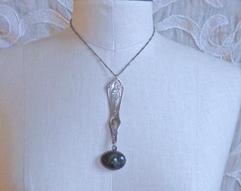 ON TOUR until April 25th-Labradorite Muse Necklace