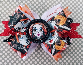 Skelita Monster High Day of the Dead Skeleton Hair Bow Headband Halloween Horror