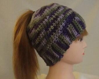 Messy Bun Hat, Bun Hat, Ponytail Hat, Green Messy Bun Hat, Green Bun Hat, Green Ponytail Hat, Purple Bun Hat, Purple Messy Bun Hat