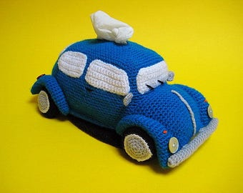 VW Beetle Tissue Holder Pdf CROCHET PATTERN Volkswagen Tissue Box Cover Classic Bug Amigurumi